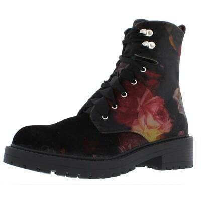 44a47cbdf2b MADDEN GIRL WOMENS Alicee Velvet Floral Ankle Combat Boots Shoes BHFO 7112