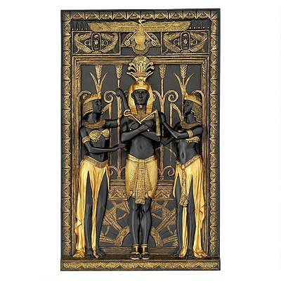 Royal Protector of Egypt Pharaoh & Goddess Egyptian Revival Style Wall Sculpture