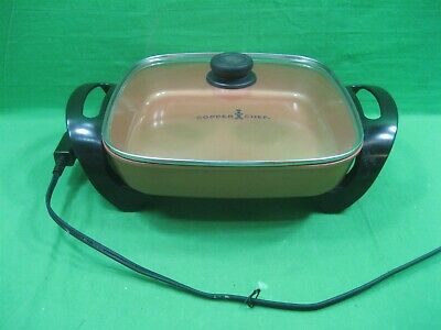 Copper Chef Electric 1200 Watt Skillet 12 x 12 Easy Clean with Glass Lid