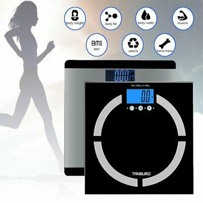 400lb LCD Digital Bathroom Body Weight Scale Tempered Glass High Load Capacity