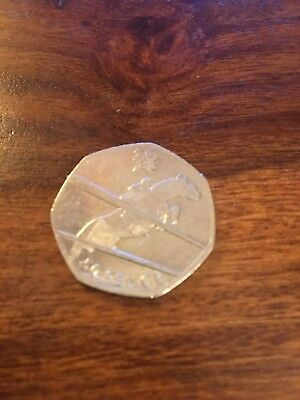 2011 Rare Fifty Pence 50p London 2012 Olympic Games equestrian horse show jump