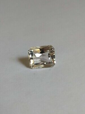 5.75ct Emerald Cut NATURAL Colorless White GOSHENITE BERYL - Estate Collection