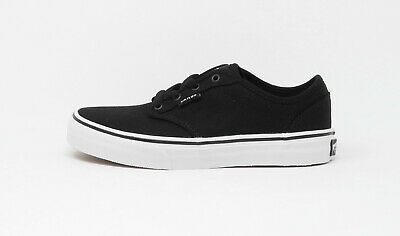 Vans Kids Children Youths Girls Boys Shoes Atwood Canvas Black White