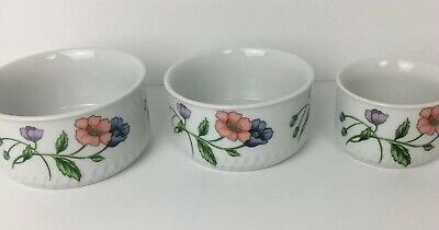 house of prill porcelain Ramekin Bowls Set Of 3 Poppies