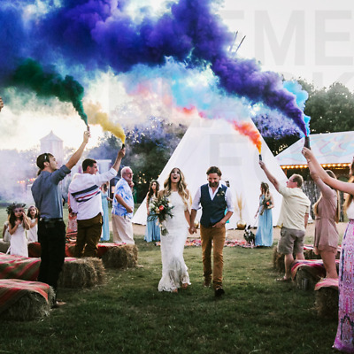 Color Smoke Bombs Photography - 4pcs Sticks Blue Green Yellow Red Colored Cannon