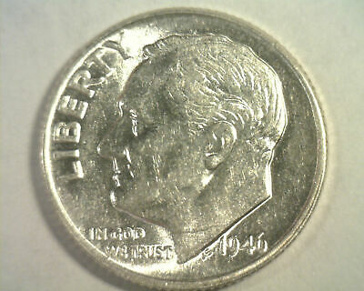 1946 ROOSEVELT DIME CHOICE ABOUT UNCIRCULATED++ CH. AU++ NICE ORIGINAL  99c SHIP