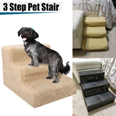 Portable  Folding 3 Steps Climb Stair Cat Ramp Ladder for High Bed Sofa Indoor