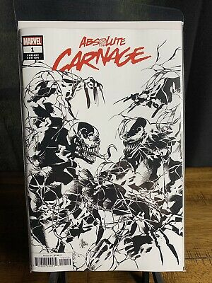 Marvel 2019 ABSOLUTE CARNAGE #1 B&W Party Sketch Variant 1st Print NM