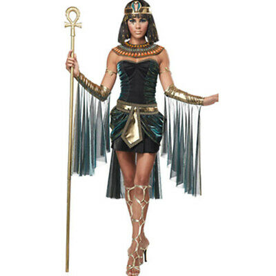Egyptian Goddess Cosplay Costume Polyester Material Suit Cleopatra Queen Dress