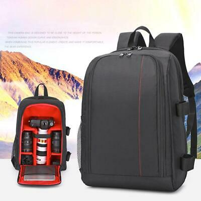 """Waterproof 15.6"""" Laptop DSLR Camera Photo Padded Backpack Bag With Rain Cover"""