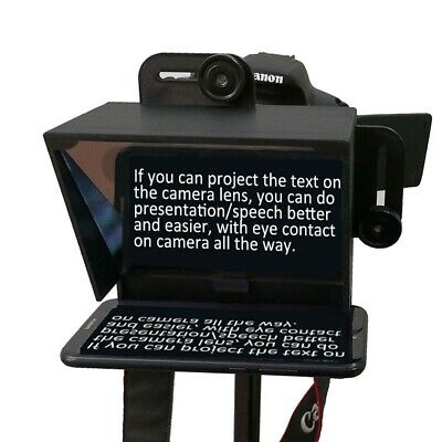 Portable Mini Teleprompter for All IPhone 7 8 9 X Phone Smartphone Word Board