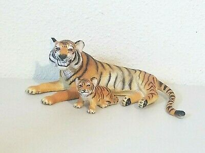 "Vintage AAA Wildlife TIGER and CUB Action Toy Figures 8"" & 3"""