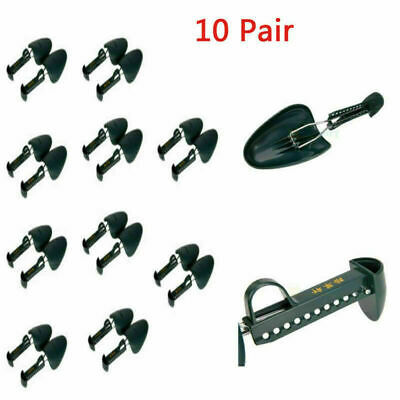 10Pair Adjustable Plastic Shoe Tree Shaper Keeper Boot Stretcher Shoe Bracket US