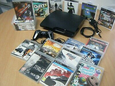 Sony Playstation 3 Slim 120Gb Bundle Console Controller And 20 Games