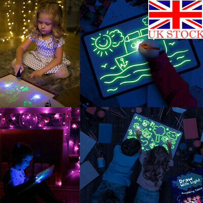 Glowing Paint Light Tablet With Light Fun Developing Toy Drawing Writing Board