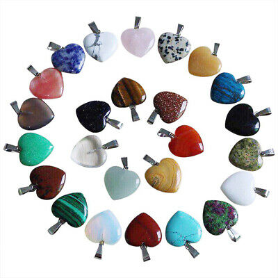 Wholesale 50pcs/lot Fashion Natural Love Heart-shaped Stone Beads Pendants