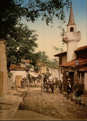 Scutari, Constantinople, 1890's, Vintage Turkish Photography Poster