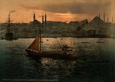 Stamboul, Constantinople, 1890's, Vintage Turkish Photography Poster
