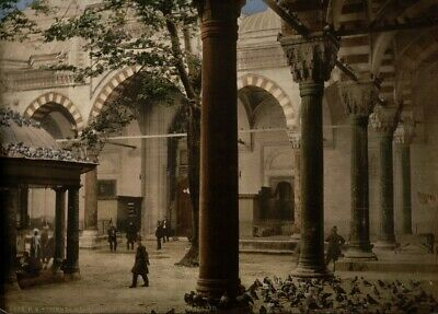 Bajazid's Mosque, Constantinople, 1890's, Vintage Turkish Photography Poster