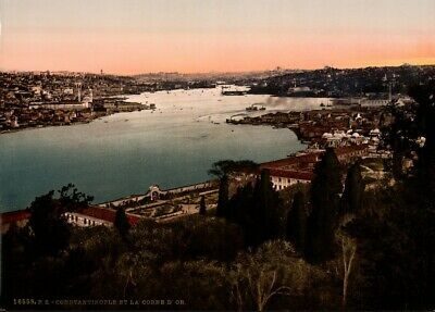 The Golden Horn, Constantinople, 1890's, Vintage Turkish Photography Poster