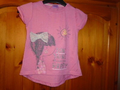 Pink Sun Shine Makes Me Happy print top, FLORENCE & FRED, 2-3 years, see desc