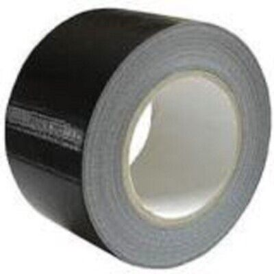 NEW 6 ROLL OF BLACK DUCT GAFFA CLOTH TAPE 50mm x 50M/ STRONG/ HIGH QUALITY