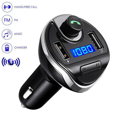 HandsFree Car Bluetooth Transmitter Wireless FM Charger Dual USB SD Brand New