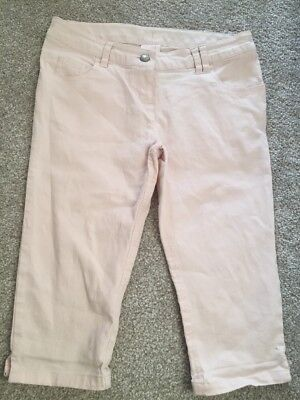 Next 13 Years Pale Pink Cropped Denim Jeans Trousers