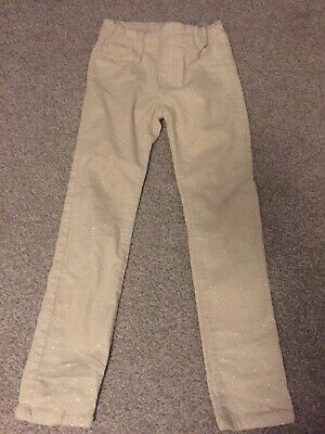 H&M Cream & Gold Sparkly Jeans Trousers Age 5-6 Years