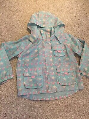 Girls 6-7yrs mac in a bag pale blue pink white star pattern Lady Bird Shower Pro