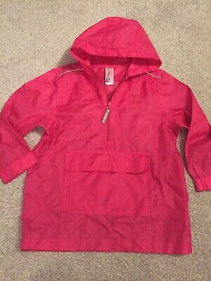 Back To School Pink Rain Pac A Mac In Its Own Pouch Showerproof Size Small 6-8 Y
