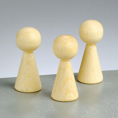 4 Wooden Cone Body Shapes - 50mm   Wooden Shapes for Crafts