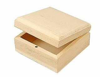 8 Basic 9cm Wood Boxes to Decorate | Wooden Boxes for Crafts