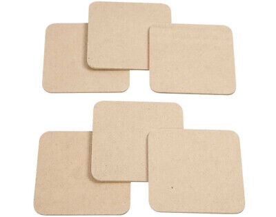 6 Wooden 10cm MDF Coasters to Decorate   Wooden Shapes for Crafts