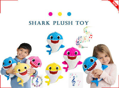 Baby shark plush singing plush toys music doll English song gift for child 3Pcs
