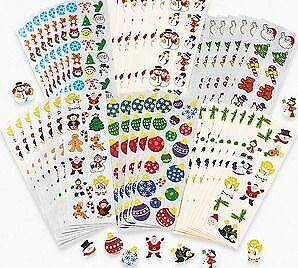 100 Christmas Sticker Sheets for Kids Crafts   Kids Christmas Stickers