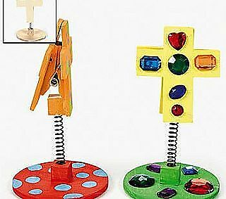 12 Decorate Your Own Wooden Christian Cross Note Holders