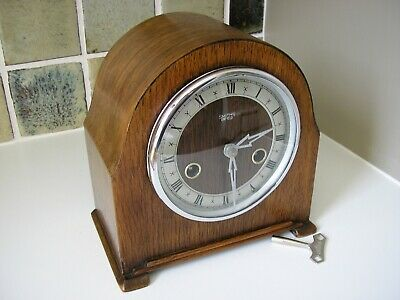 RESTORED 1950's COMPACT SMITHS MANTLE CLOCK