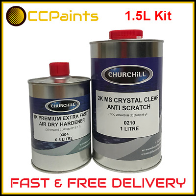 2K COLOMIX CLEAR Anti Scratch Clearcoat 1 5Ltr Lacquer