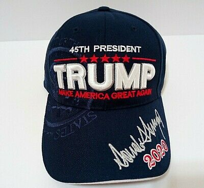 MAGA President Donald Trump 2020 Make America Great Again Hat Navy Blue Cap