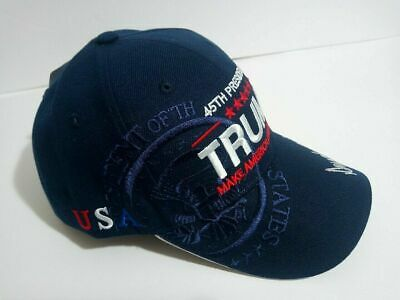 MAGA President Donald Trump Make America Great Again Hat Navy Blue Cap