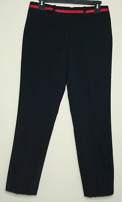 Tommy Hilfiger Sz 4 Women Black Pants Bristol Slim Ankle 58% Cotton Stretch $79