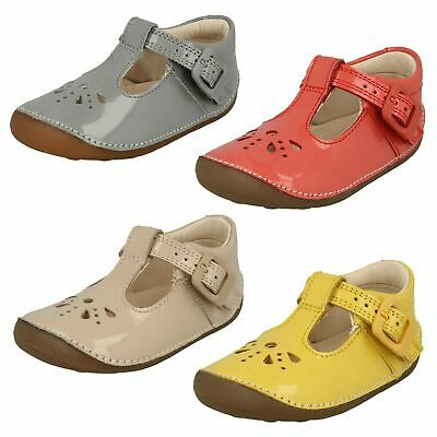 Girls Toddler Clarks Little Weave Buckle T Bar Casual Summer First Shoes Size