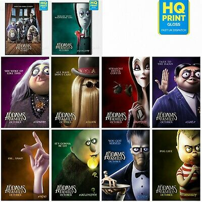 THE ADDAMS FAMILY Animated Family Movie 2019 Character Posters   A4 A3 A2 A1  