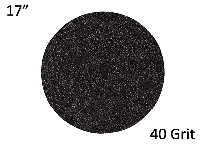 """430mm (17"""") Double Sided Sanding Discs- Silicon Carbide- 40 Grit - Pack of 12"""