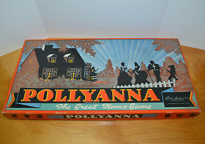 Vintage Pollyanna Board Game 1940'S 1950'S Parker Brothers Nice Box