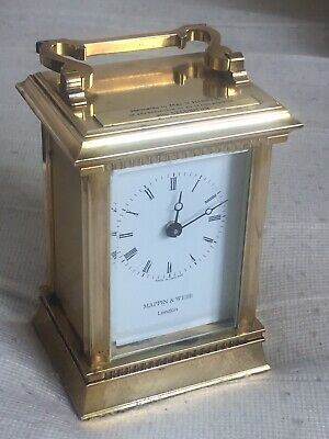 "Vintage Of 1970's ""MAPPIN & WEBB"" London, Auto Quartz Move, Brass Carriage Clock"