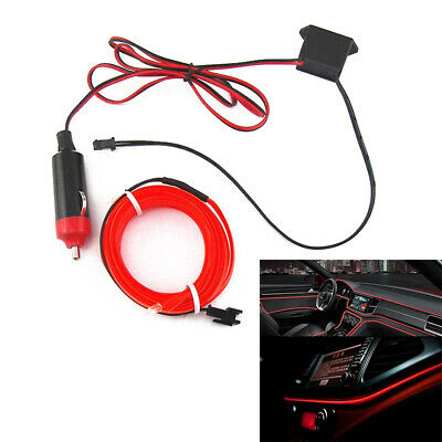 2m Car Interior LED Strip light Universal Inner Decorative Wire Red Lamp 12V