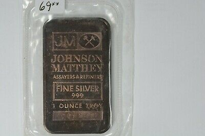 JM Johnson Matthey Ranchers Exploration Escalante Mine 1982 1oz .999 Silver Bar