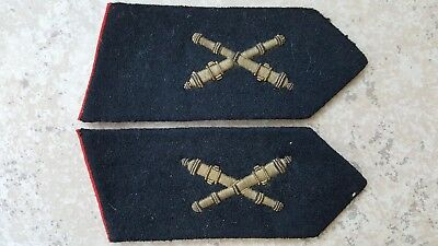 Hungarian Army Early Post Ww2 Collar Tabs Artillery 1945-1950
